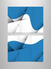 tri fold blue brochure template