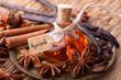 Leinwanddruck Bild - Ayurveda Massage mit Gewürz Öl