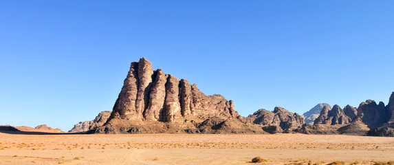 The Seven Pillars of Wisdom in Wadi Rum, Jordan