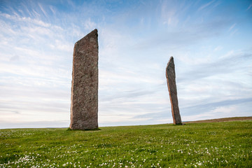 Standing Stones of Stenness, Orkney, Scotland, neolithic stone