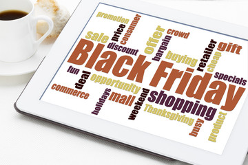 Black Friday shopping concept