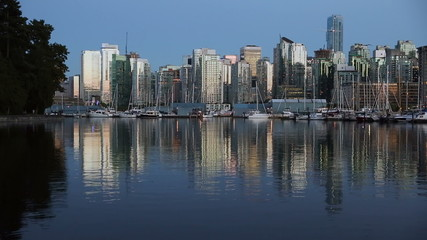 Twilight Downtown Vancouver, Coal Harbor