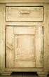 canvas print picture - Furniture part. Closeup of wooden kitchen cabinet