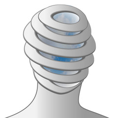 spiral sky head