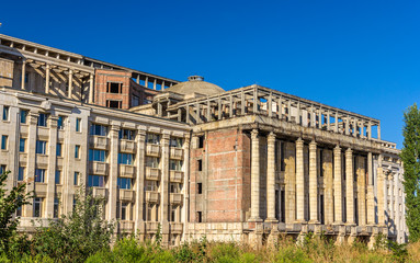 Unfinished part of Romanian Academy Palace - Bucharest