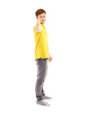 Happy smiling young man standing