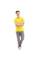 Happy man standing