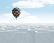 canvas print picture - Aerostats in sky