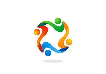 teamwork people diversity logo