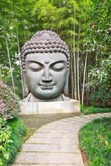 bamboo forest Buddha in hangzhou park