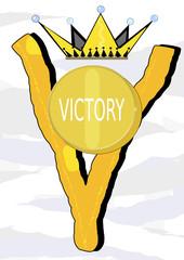 Con uve de victoria
