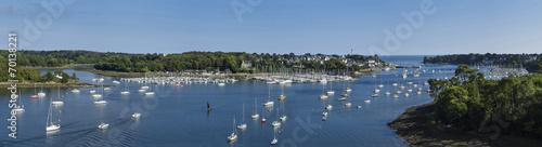 Leinwandbild Motiv Village de Bénodet en Bretagne