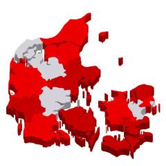 デンマーク 地図 国旗