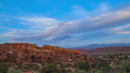 Fiery Furnace Overlook at Sunset Arches National Park Moab Utah