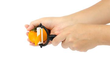 Yellow persimmons