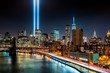 Leinwanddruck Bild - Tribute in Light memorial on 9/11/2014