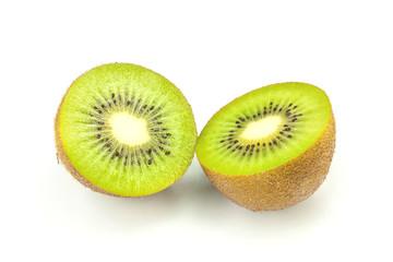 New Zealand kiwi fruit isolated on white background cutout