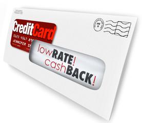 Credit Card Offer Letter Envelope Solicitation Low Rate Cash Bac