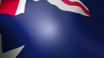 Australian Flag - looping, waving