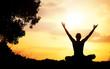 Yoga meditation silhouette