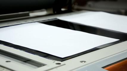 photocopier light copy the document