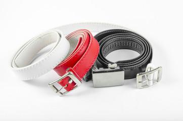 belt red white black