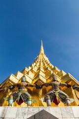 Architecture of Buddha in Wat Prakaw,Bangkok ,Thailand.