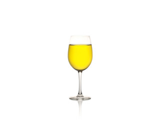 Glass of wine isolated on a white background