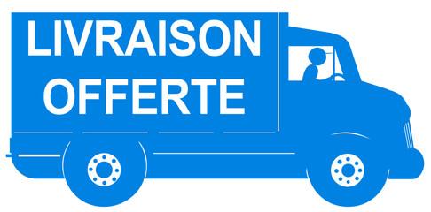 camion bleu livraison offerte