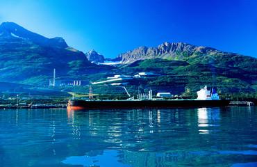 Valdes oil harbor in Alaska