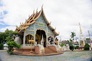 thai temple in northern style at wat kor klang.