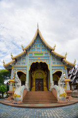 thai temple in northern style at wat kor klang.