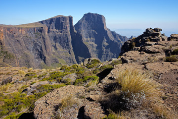 High peaks of the Drakensberg mountains