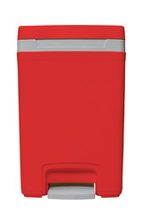 Isolated small red bin