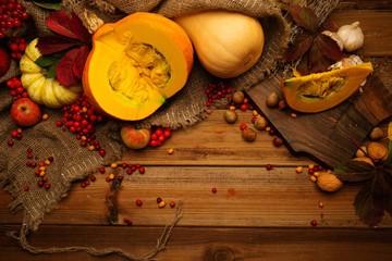 Thanksgiving day autumnal still life