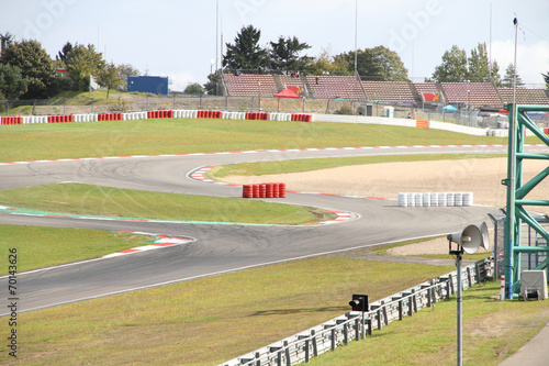 Fotobehang Motorsport neue Rennstrecke
