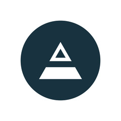 triangle diagram circle background icon.