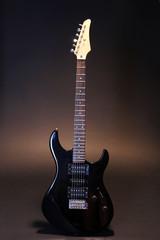 Guitar on dark background