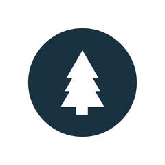 fir-tree circle background icon.