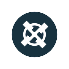 mill circle background icon.