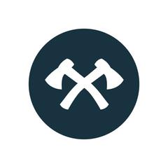 axe circle background icon.