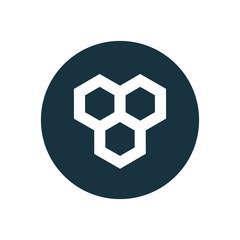 honeycomb circle background icon.
