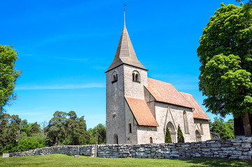 Bro church - a typical medieval church in Gotland, Sweden