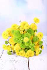 Beautiful bouquet of chrysanthemums flowers