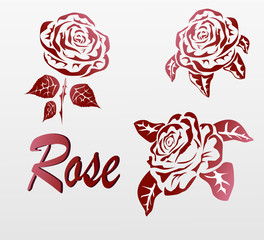 Vector Rose . icons .tattoo