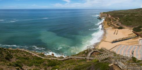 Ribeira d'Ilhas beach at Ericeira, Portugal