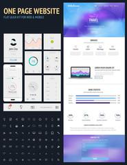 Website interface template-