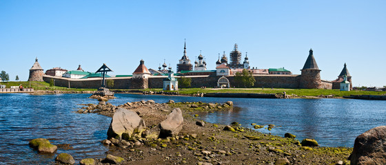 View on Solovetsky monastery