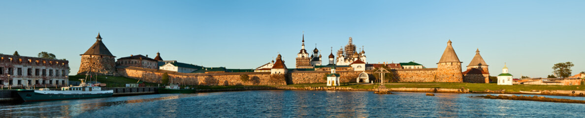 Solovetsky Monastery at sunset