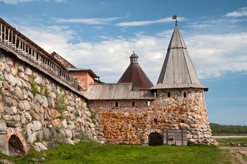 Towers of the Solovetsky monastery